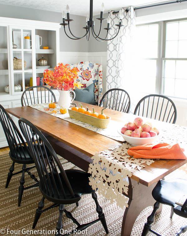 Rüstik yemek odası dekorasyonu