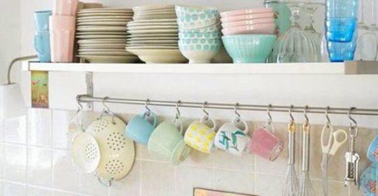 işleevsel dekoratif mutfak rafları