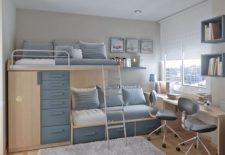 Modern iki kişilik modüler genç odası