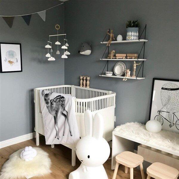 Küçük Odalar için Bebek Odası Dekorasyonu Fikirleri