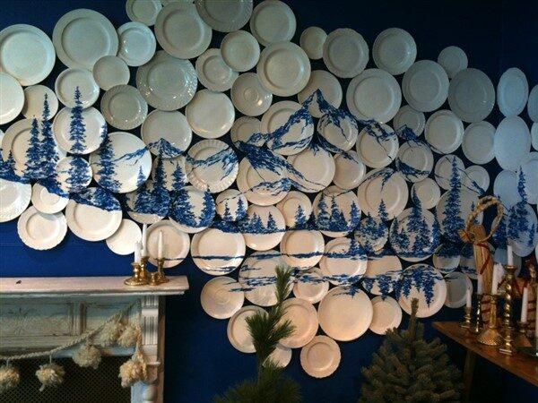 Duvarları Porselen Tabaklar ile Güzelleştirin