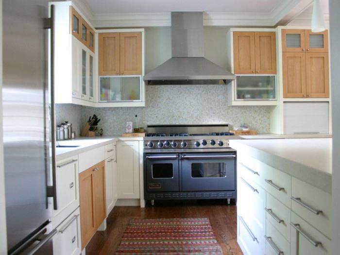 Ahşap Beyaz Mutfak
