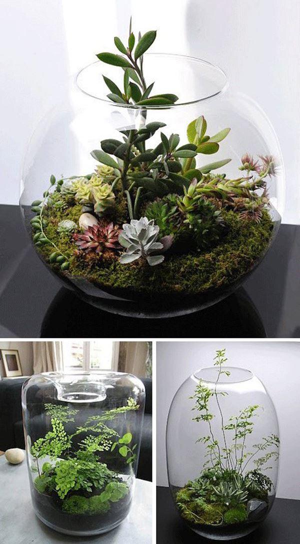 Aquarium flowerpot