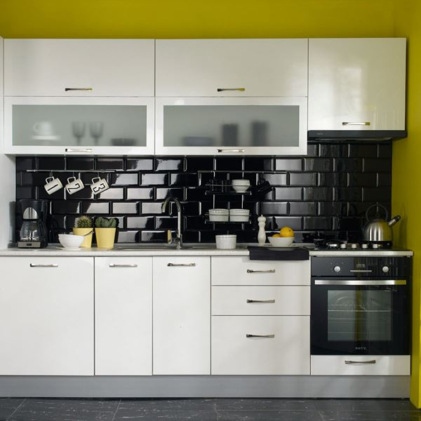 Alaçatı Ankastre Mutfak Dolabı Beyaz Koçtaş Mutfak