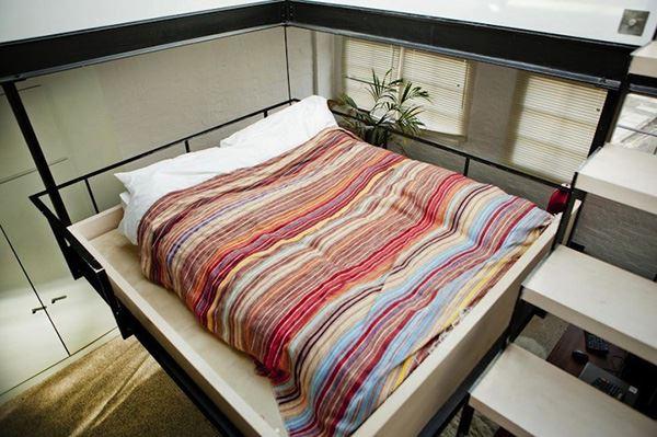 Interesting bedroom with mezzanine