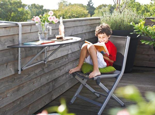 Balkon için modüler balkon masası