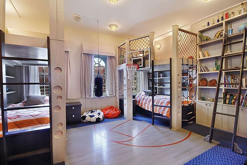 Basketball court children room decoration