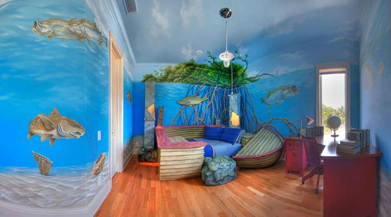 Sunken Ship Themed Children's Room