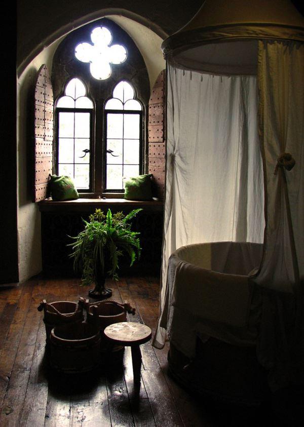 Bohem sade banyo dekoasyonu