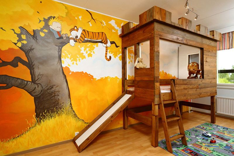 Calvin and Hobbes children's room