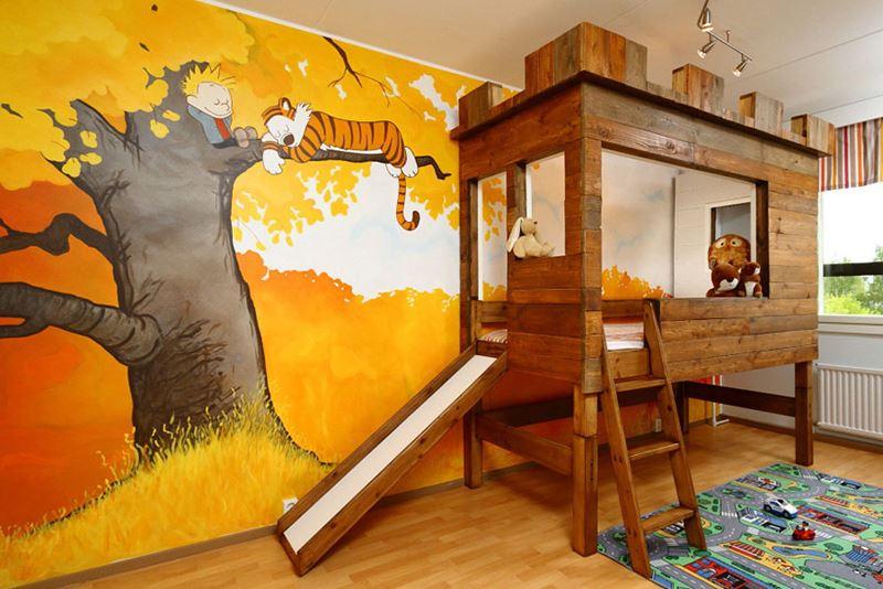 Calvin ve Hobbes çocuk odası