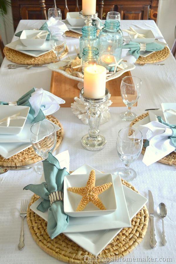 Deniz temalı yemek masası dizaynı