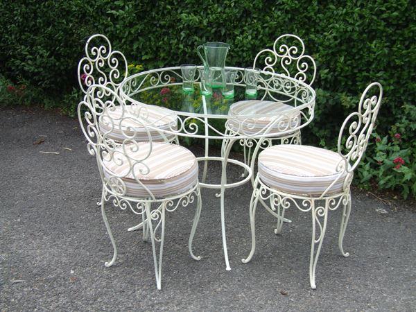 Ferforje bahçe için tam masa takımı