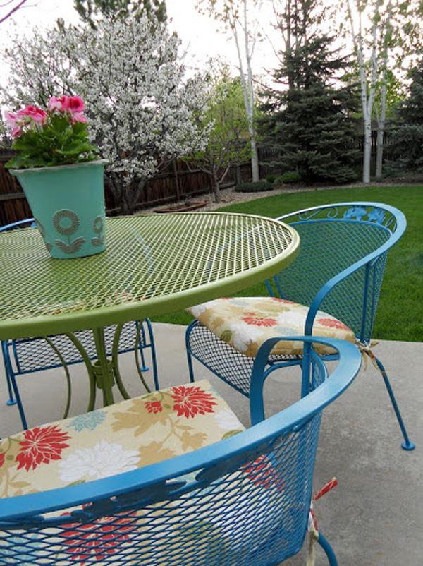 Ferforje bahçe masa takımı