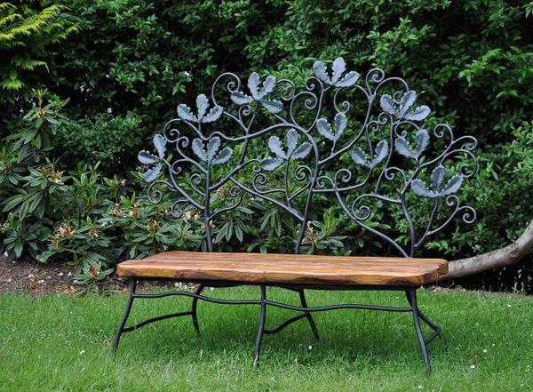 Ferforje bahçe mobilyaları modern bahçe bank