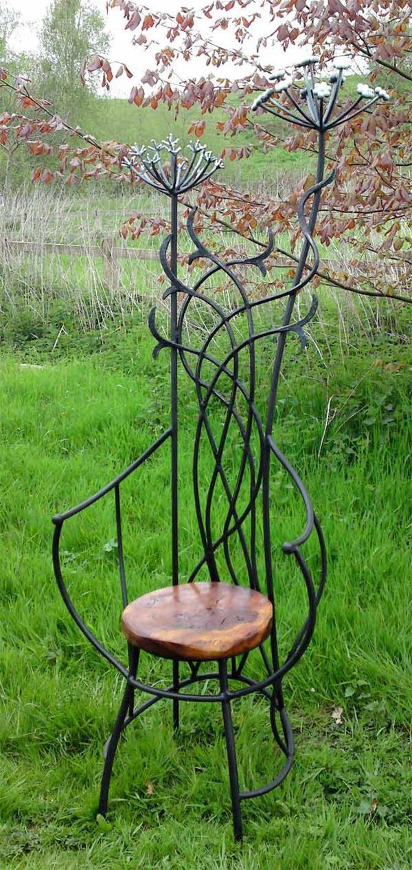 Ferforje bahçe mobilyaları sandalye