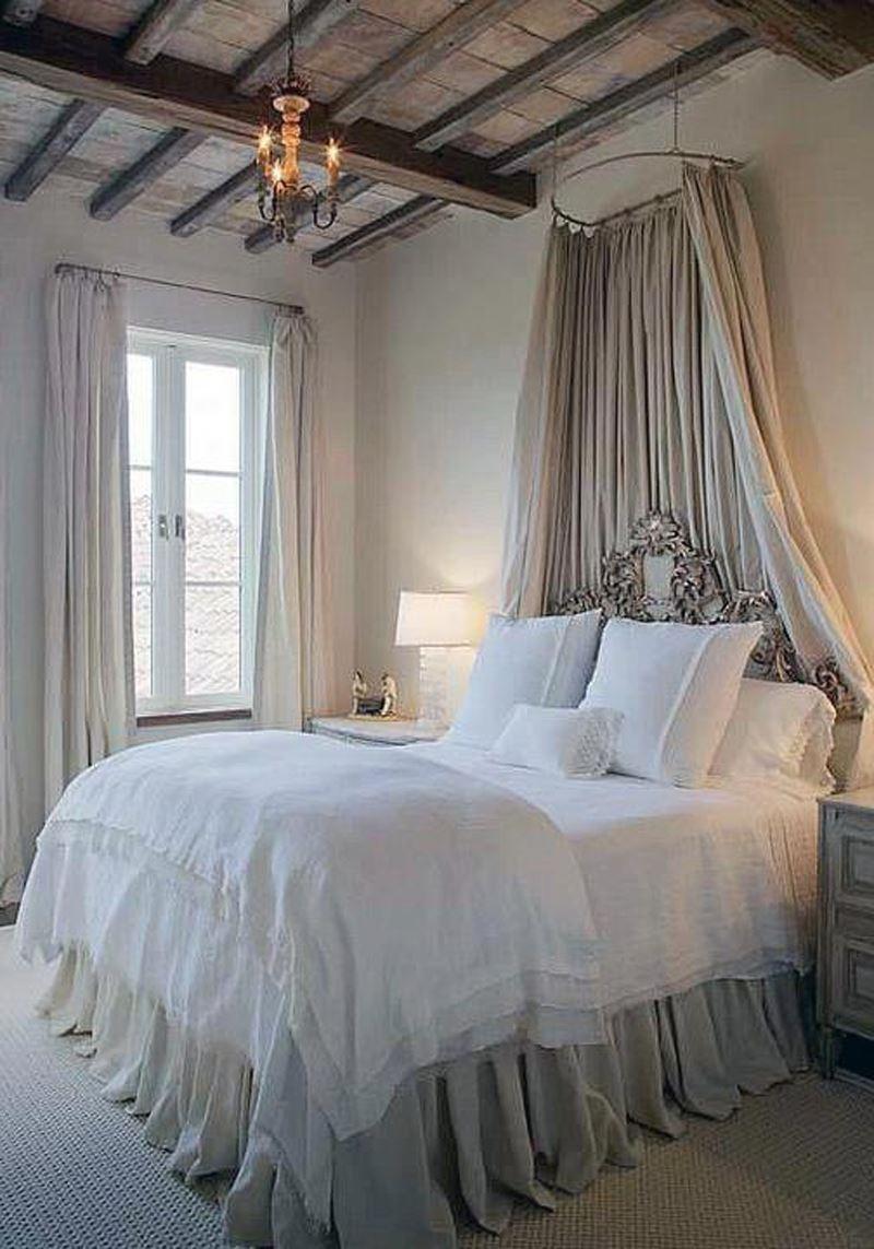 Fransız romantik yatak odası dekorasyonu