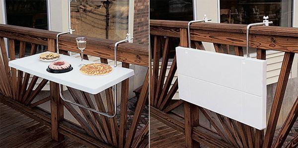 Geçmeli balkon masası