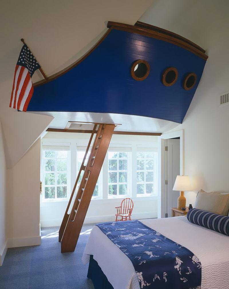 Gemi kaptanı çocuk odası dekorasyonu