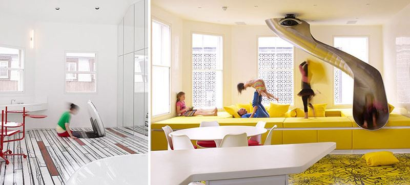 Hidden slide and playroom