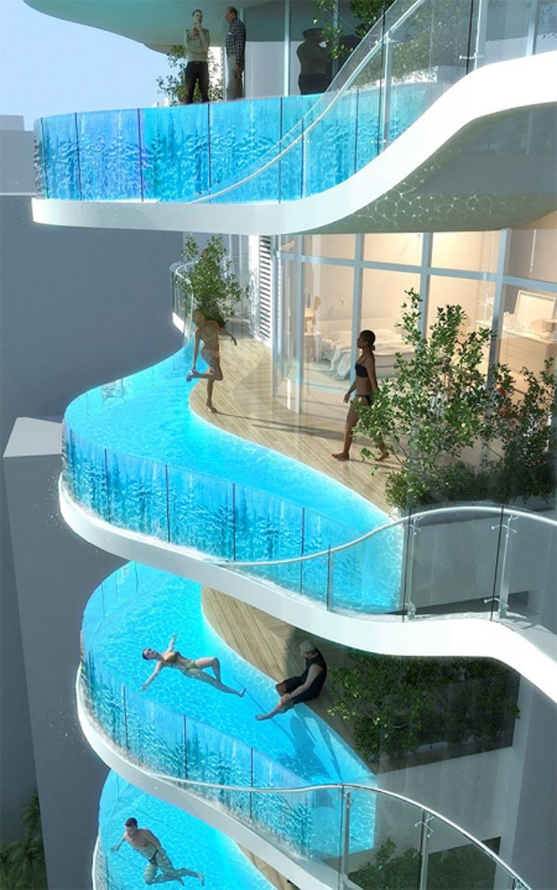 Havuzlu balkon