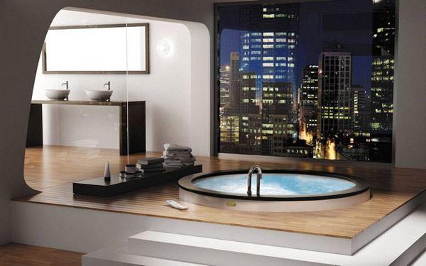Jakuzili gösterişli banyo