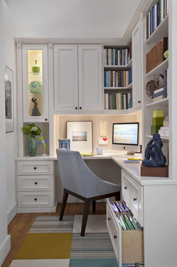 Küçük home ofis dekorasyonu