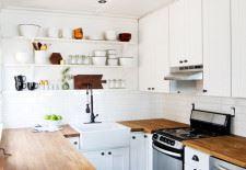 Küçük mutfak dekorasyonu beyaz
