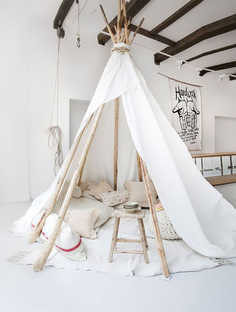 Kızılderili çadırı çocuk odası