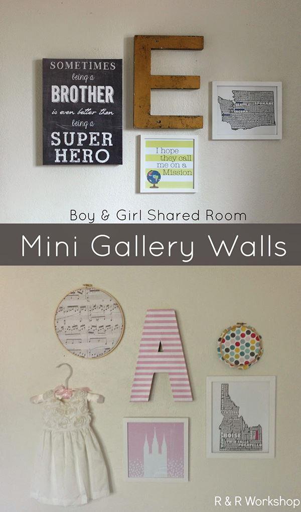 Kardeş odaları için duvar süsü