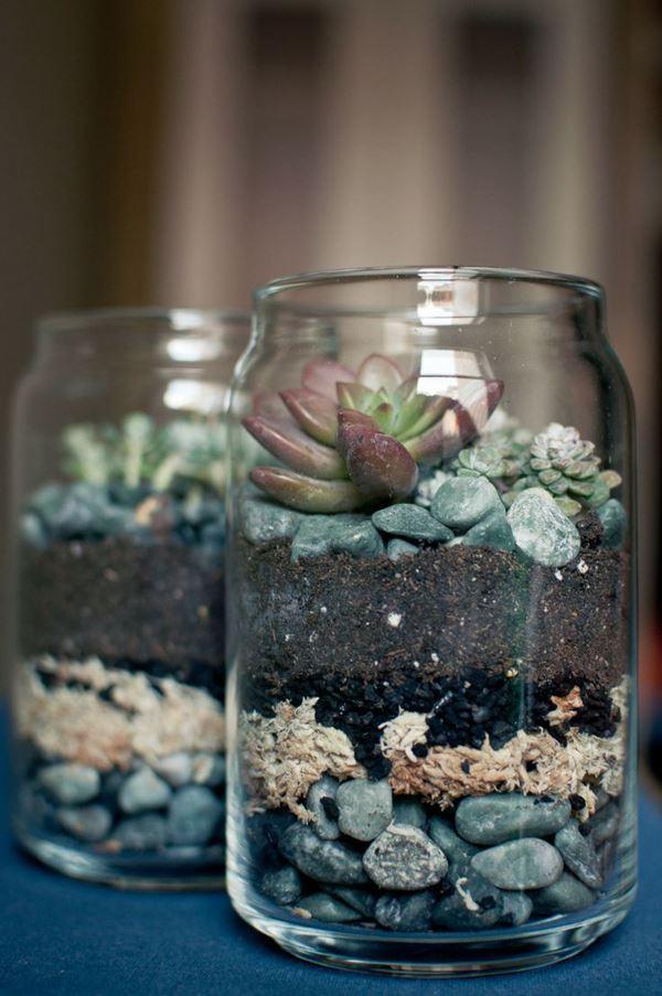 Flowerpot in jar
