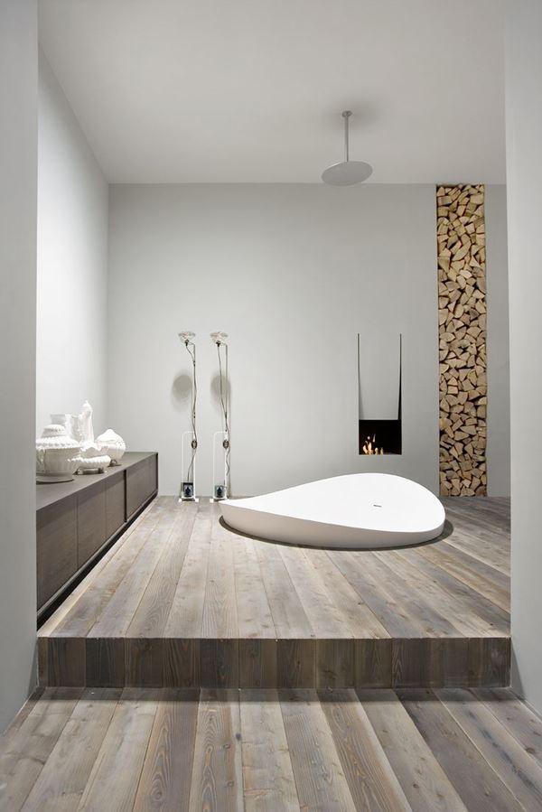 Klasik ahşap banyo dekorasyonu
