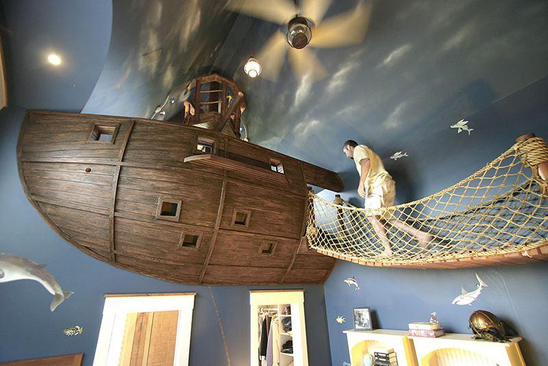Korsan gemisi çocuk odası
