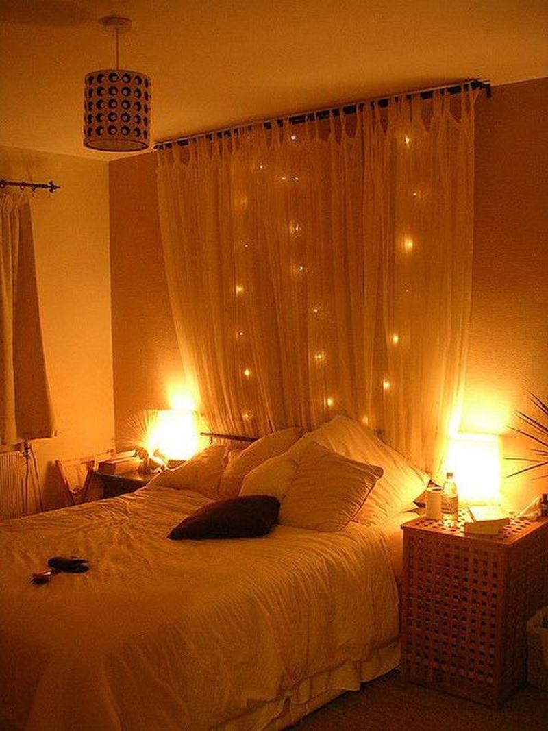 Loş romantik yatak odası dekorasyon örnekleri