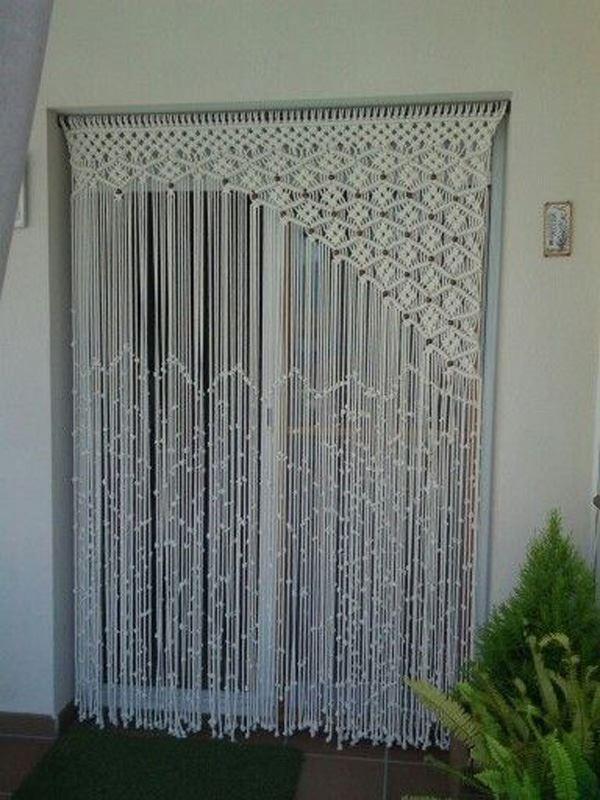 Makrome Balkon Kapısı Perde