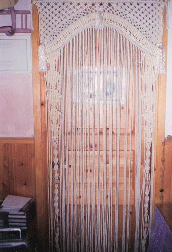 Makrome Mutfak Kapısı Perde