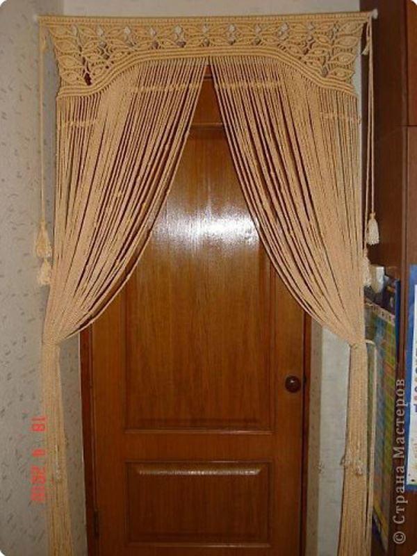 Makrome mutfak kapısı için perdesi