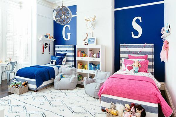 Mavi pembe kardeş odası