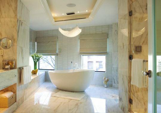 Mermer banyo dekorasyon