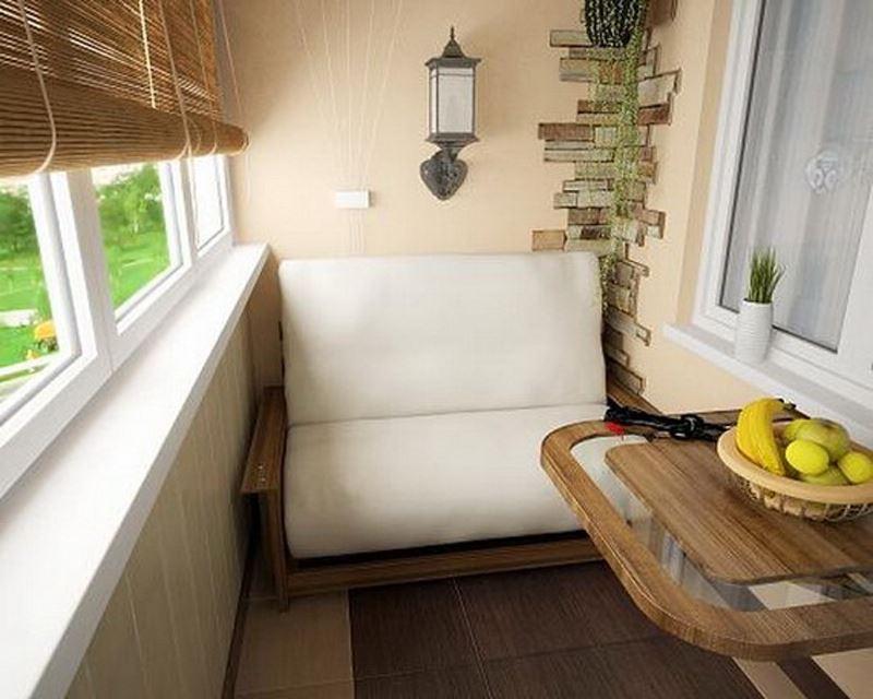 Из балкона или лоджии можно сделать изумительный уголок. отд.