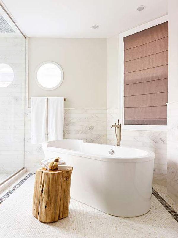 Modern beyaz renk banyo dekorasyonu