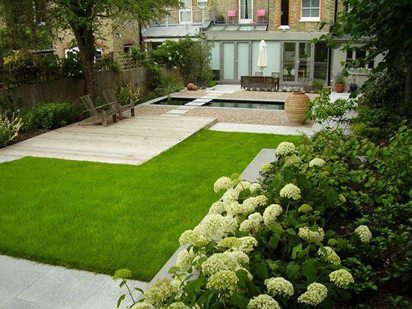 Bah e dekorasyonu i in yarat c dekorasyon fikirleri for Small rectangular garden designs