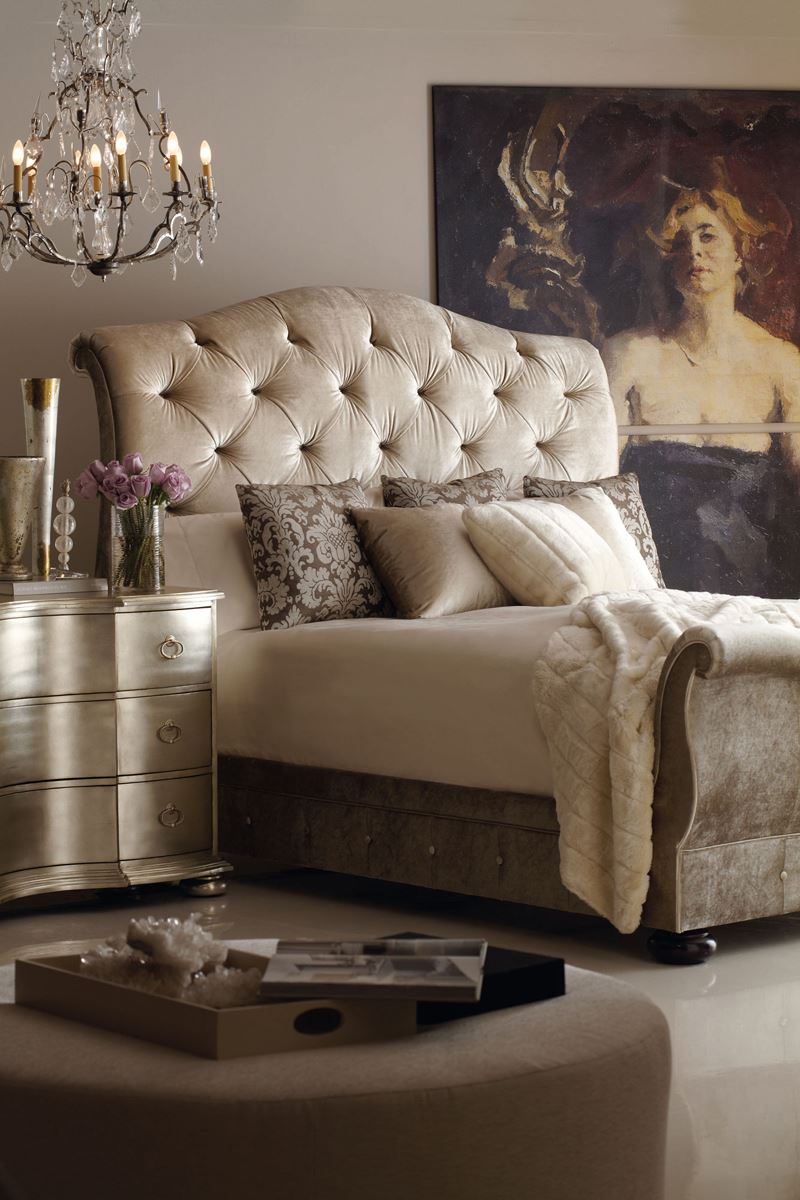 Modern romantik yatak odası dekorasyonu