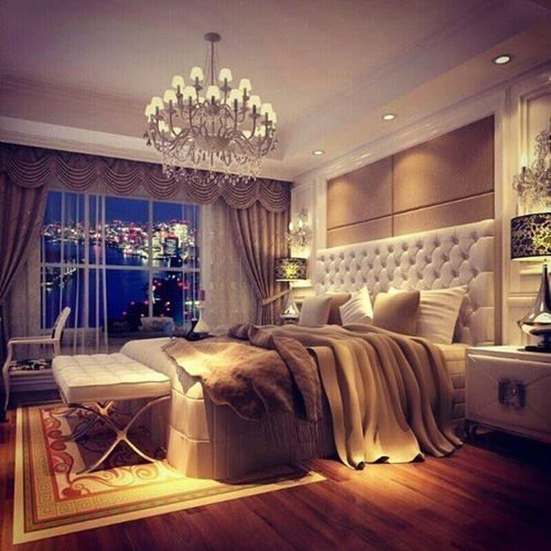 Modern romantik yatak odası modelleri