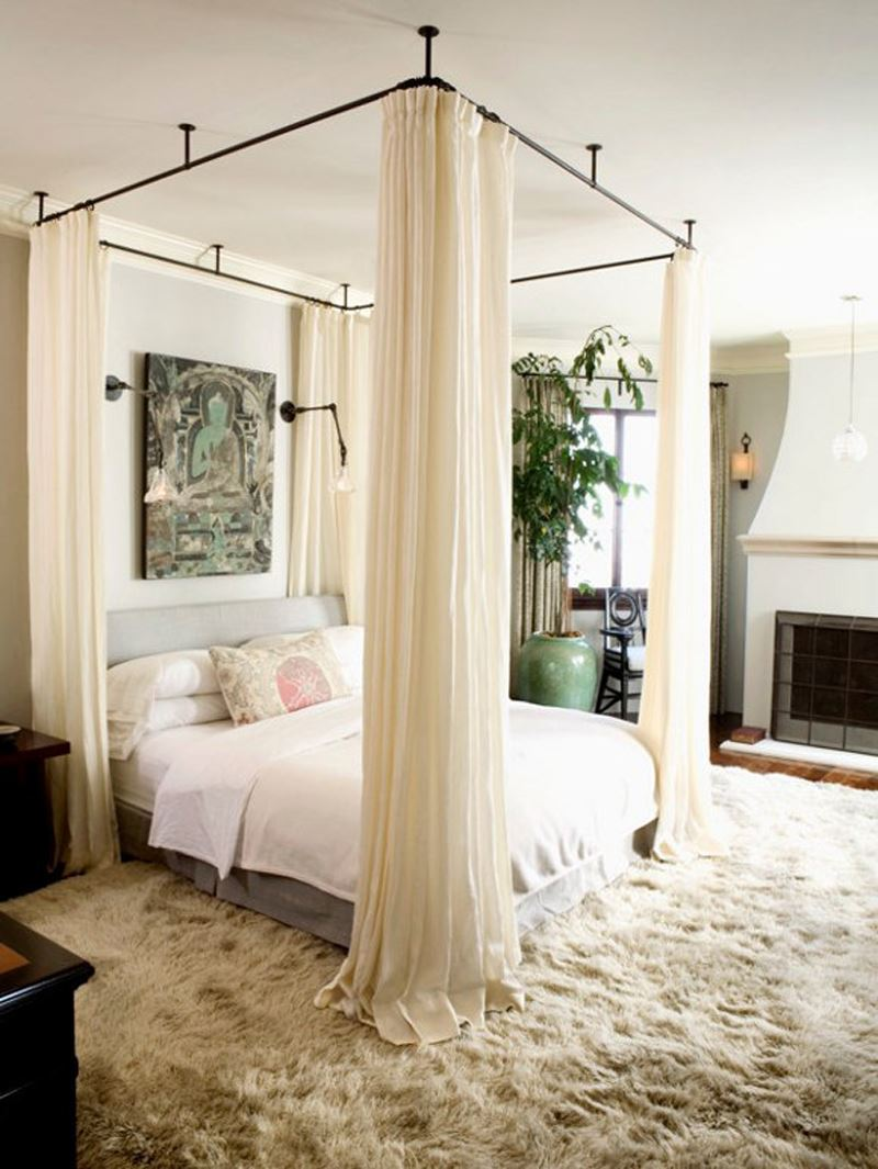 Modern romantik yatak odası