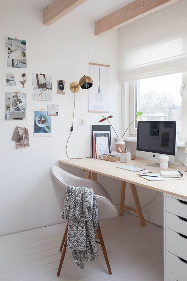 Modern tarzda minimalist home ofis dekorasyonu