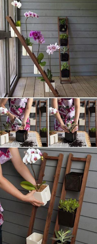 Practical space-saving flowerpot