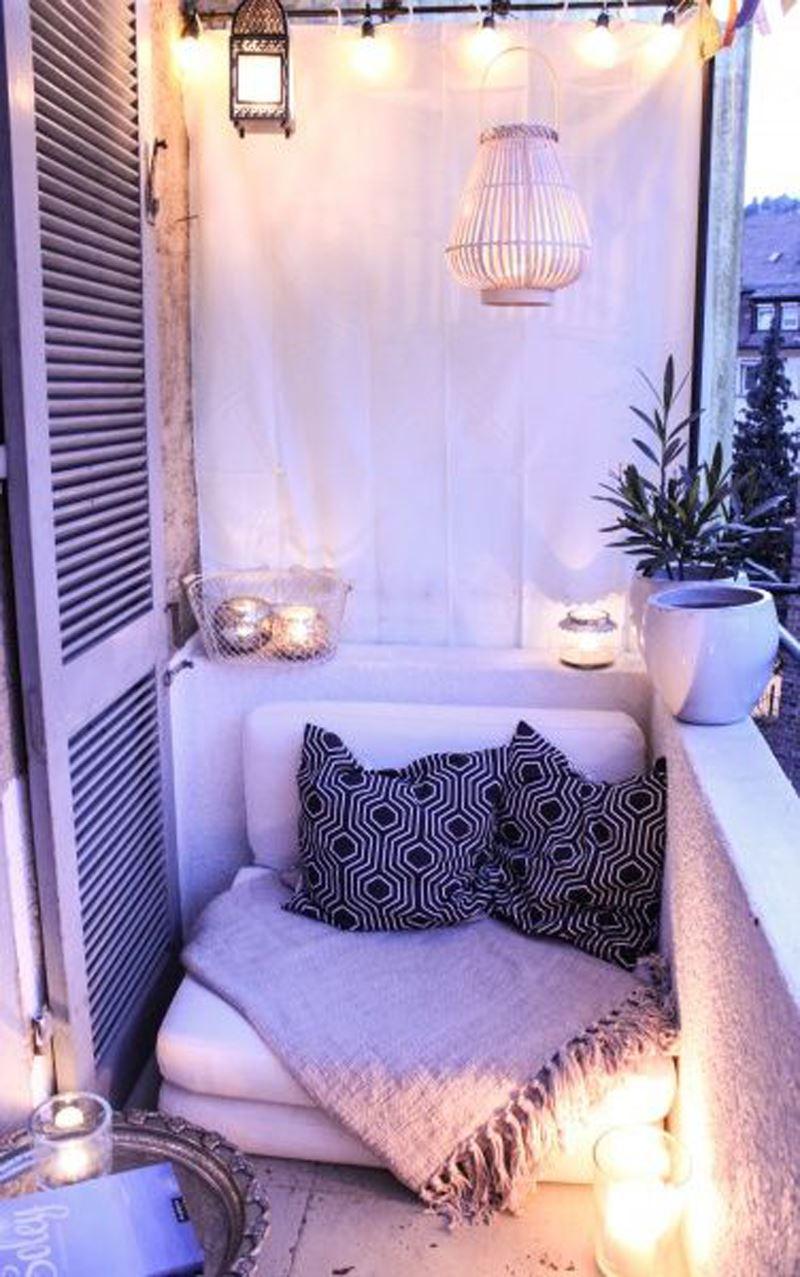 Romantik balkon dekorasyonu
