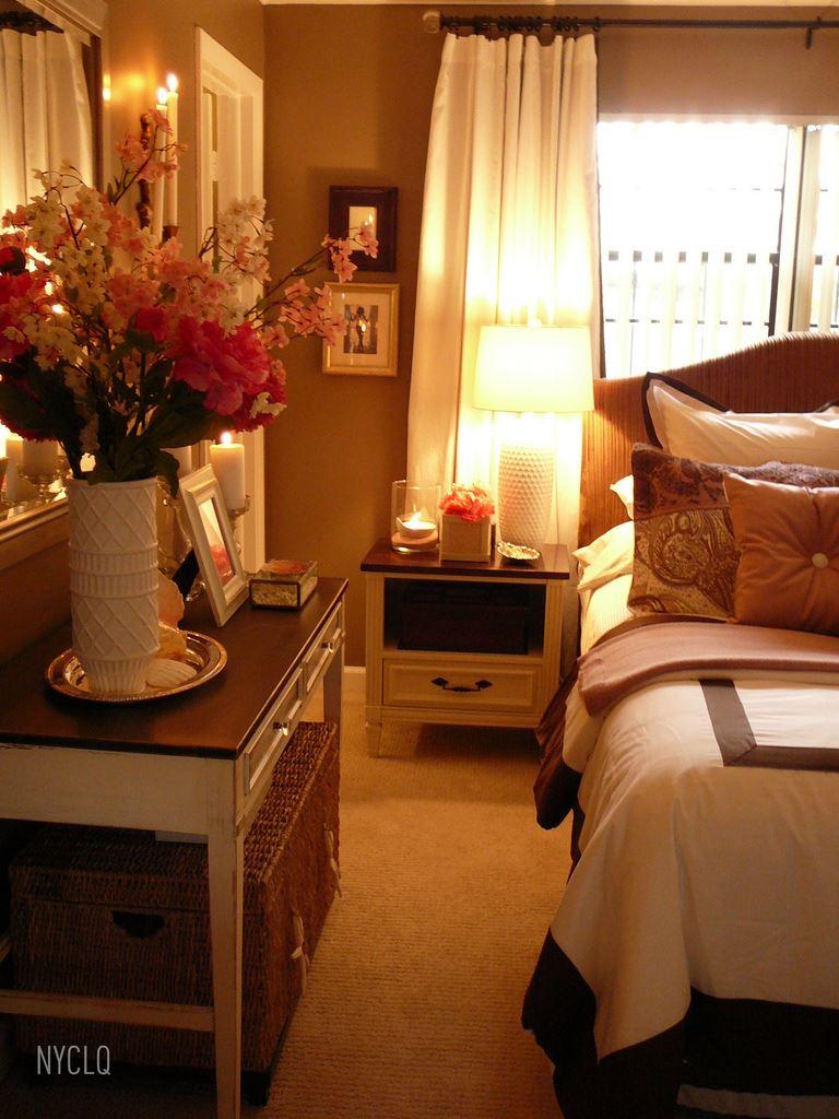 Romantik ve sade yatak odası dekorasyonu