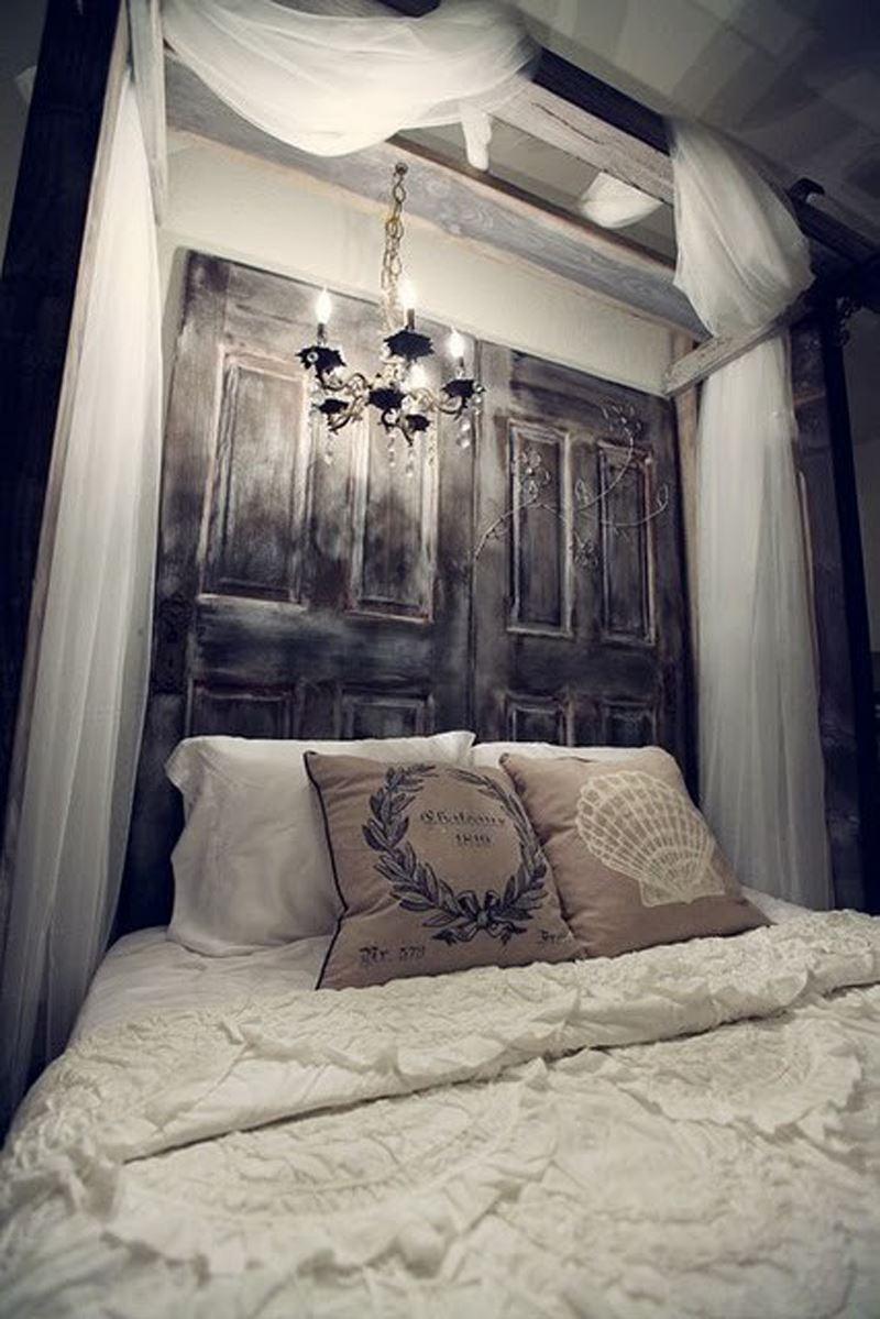 Romantik yatak odası dekorasyonu beyaz